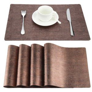 Stain-Resistant Kitchen Placemat Vinyl - set of 4